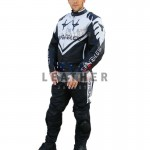 racer leather jackets, motorbike leather suit,  leather suit ,  faux leather suit,  black white leather suit,  track leather suit,  genuine leather suit, Spindles Racing Motorbike Leather Suit