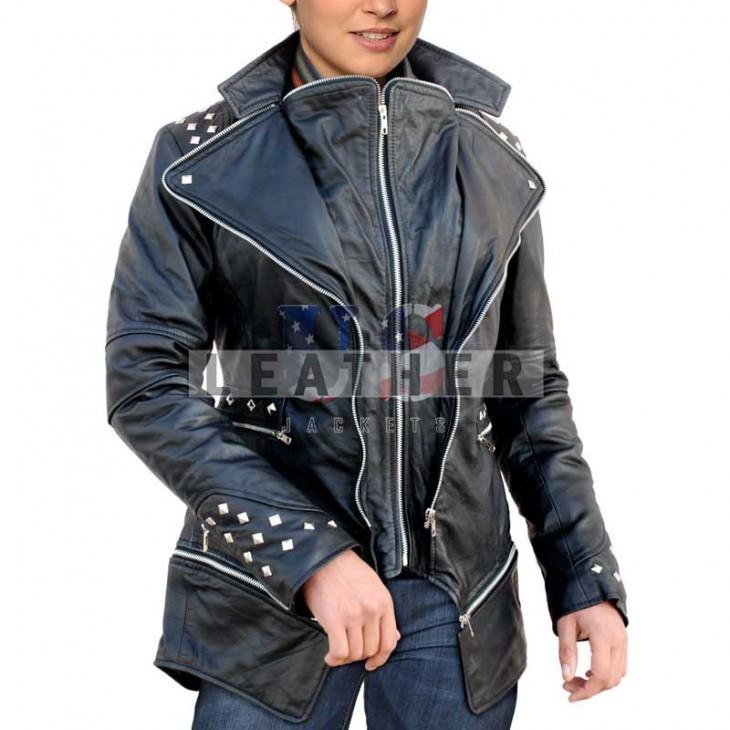 Ladies Long Fashion Jacket, leather jacket for ladies, bespoke leather jackets, leather jacket sale womens, leather jacket sale online
