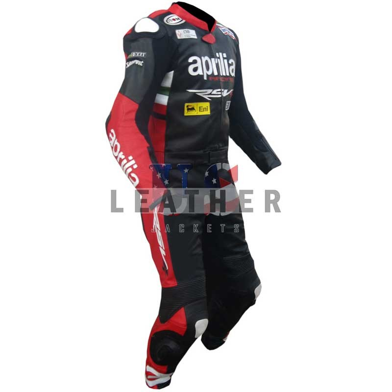 Aprilia Max Biaggi MotoGP Race Leather Suit 2 Piece
