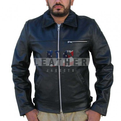 Viper Fashion Men Leather Jacket Black