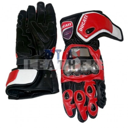 Ducati Motorcycle leather Glove