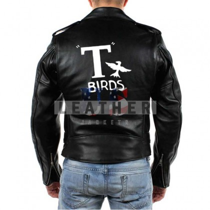 Grease 1978 T Bird Movie Men Leather Jacket