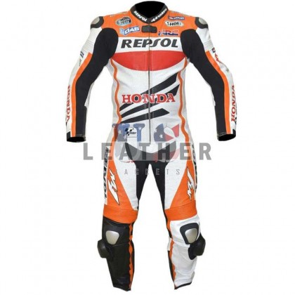 Repsol Battlax Racing Motorcycle Men Leather Suit