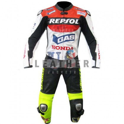 Valentino Rossi Honda Repsol Motorcycle Racing Leather Suit