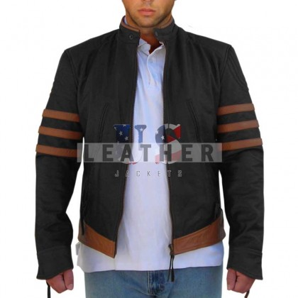 X-Men Origins: Wolverine Movie Black Leather Jacket