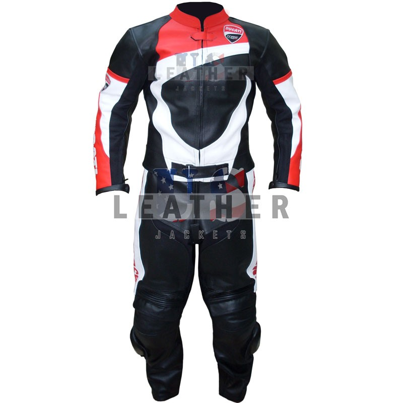 racer leather jackets, Ducati corse leather suit, ducati corse leather suit, ducati corse 14 leather suit, ducati corse 14 one-piece leather suit, Ducati motorcycle leather suit,