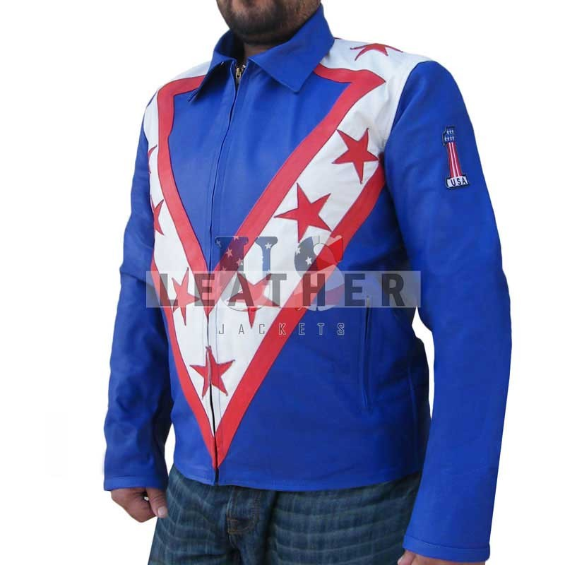 fashion leather jackets, American Icon Daredevil Evel Knievel Leather Jacket,  Evel Knievel Leather Jacket,  Genuine leather jackets,  Evel Knievel costume suit