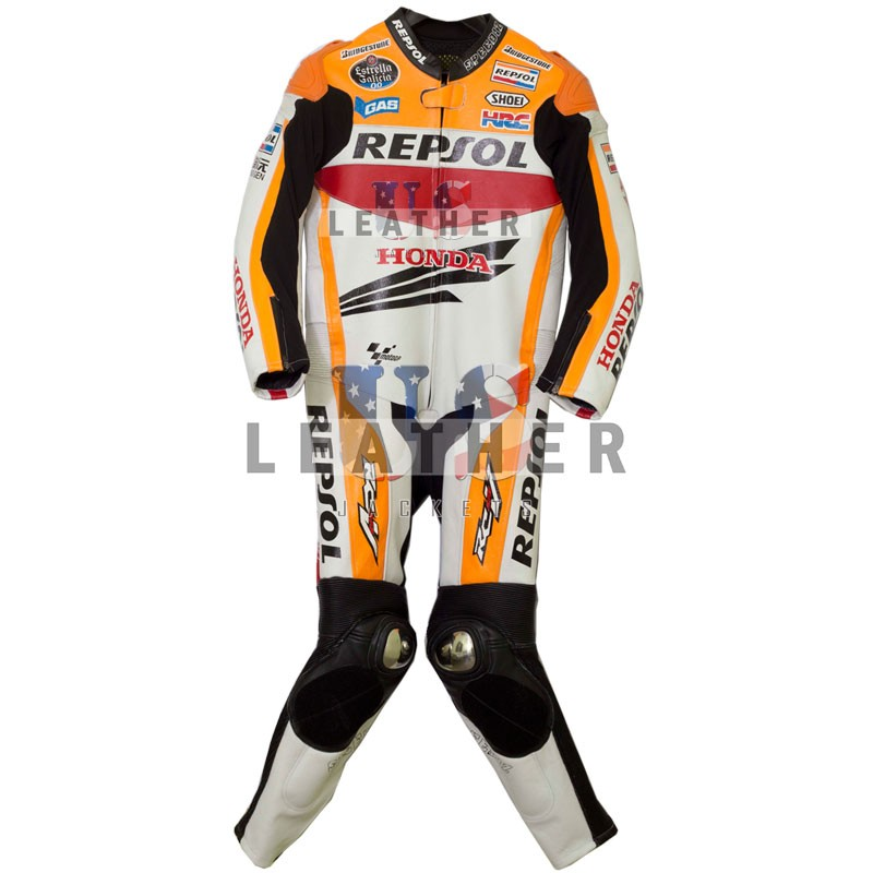 marc marquez leather suit,  Repsol Battlax Racing Motorcycle Men Leather Suit,  motorbike leather jackets