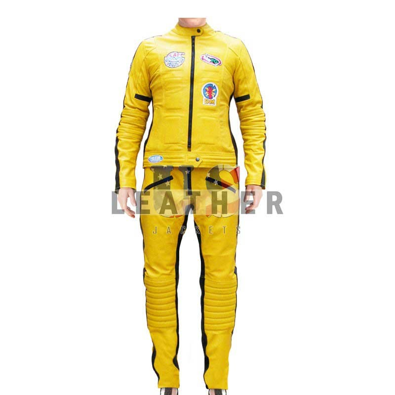 fashion leather jackets, Kill Bill volume 1 replica leather suit,  movies leather jacket,  replica movies jacket,  replica leather jackets