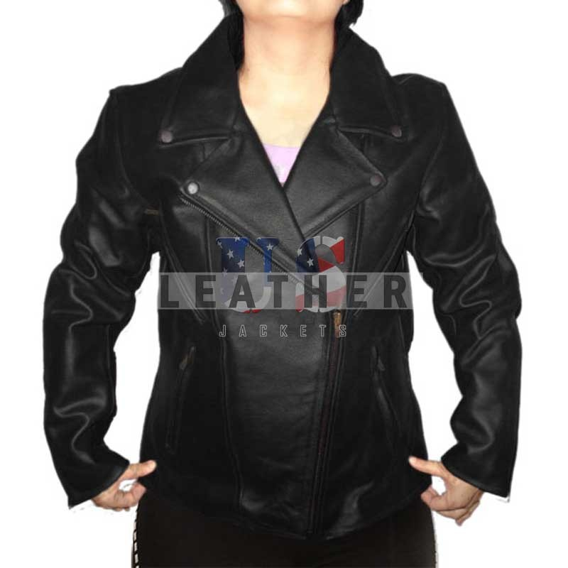 Ladies motorbike jacket,  Black ladies jacket,  Black motorcycle jacket,  women leather jacket
