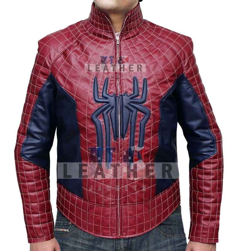 fashion leather jackets, spiderman Fashion Leather Jacket, fashion leather jacket,  movies leather jacket, custom leather jacket, Genuine Leather Jacket