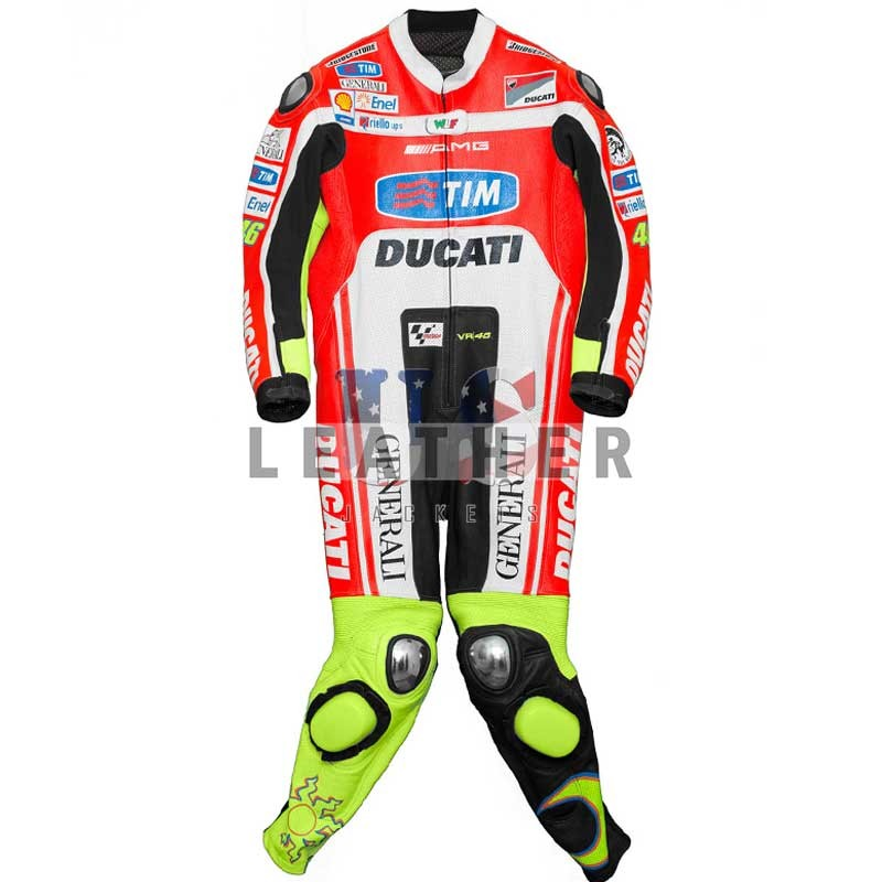 Valentino Rossi Ducati 2012 Motorcycle Racing Leather Suit,  USleatherjackets,  Valentino Rossi 2012 Motorcycle suit,  Valentino Rossi 2012,  Valentino Rossi Ducati Corse Leathers,  Ducati Corse Leathers
