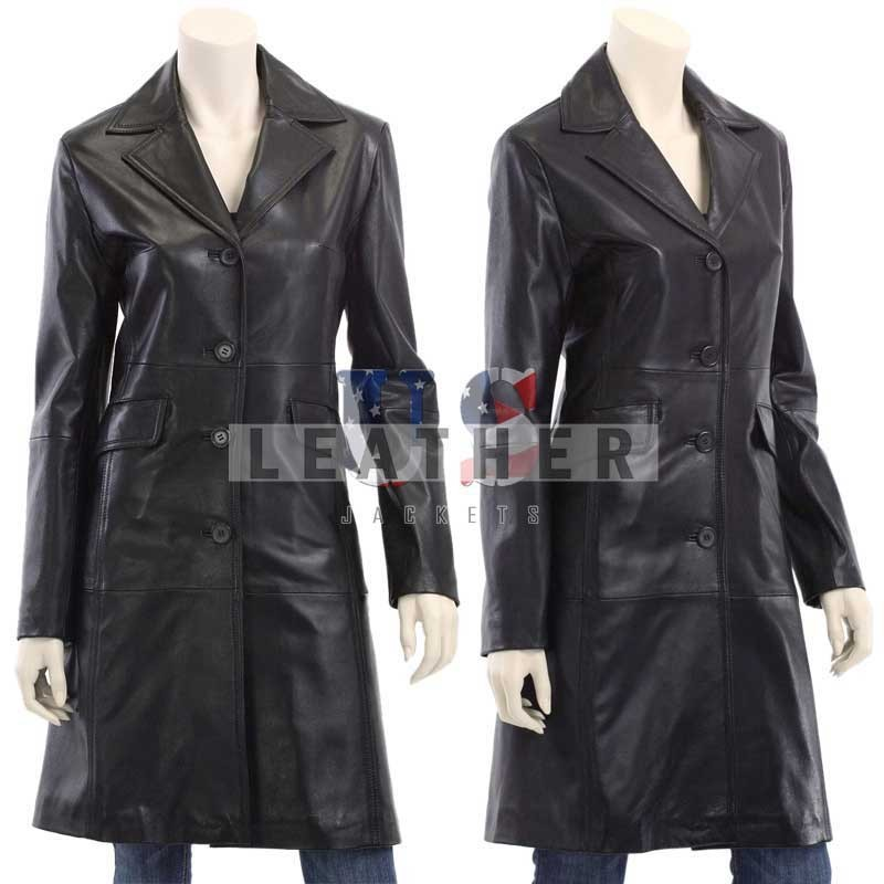 ladies leather jackets, Fashion Women Fully Lined Walker Long Coat, leather coats for women, leather jackets women, ladies long coat, ladies long coats, ladies long coats and jackets, ladies long coats on sale