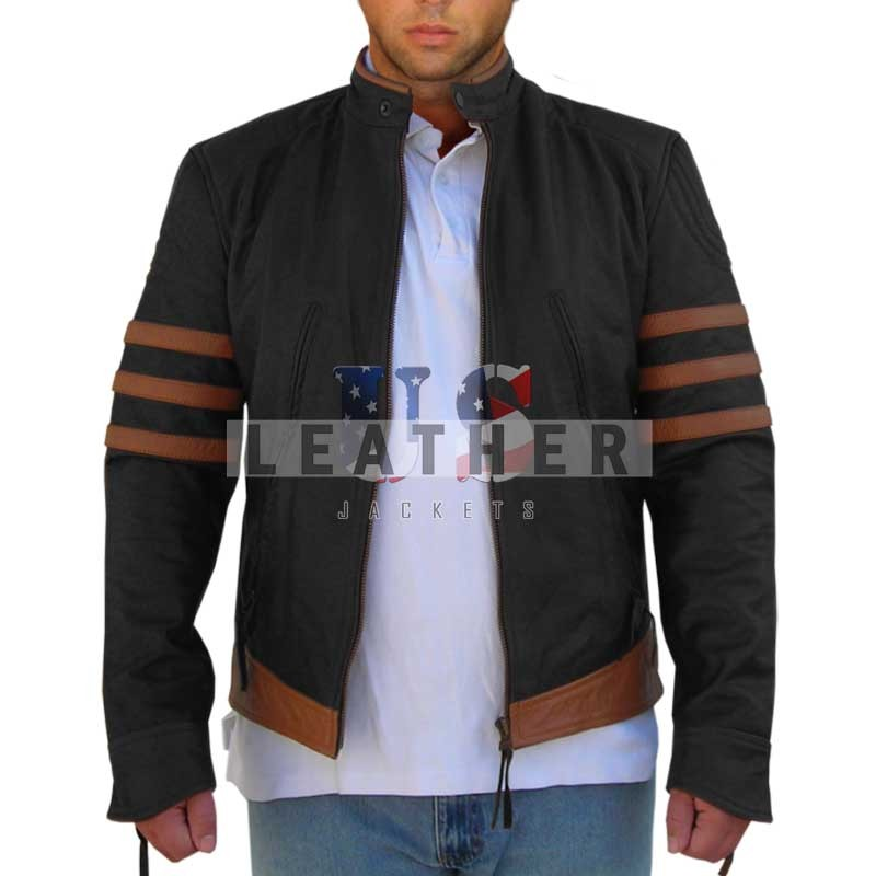 fashion leather jackets, x men wolverine Jacket, replica jacket,  movies jacket, replica movie jackets,  replica movie costumes,  leather jackets movies