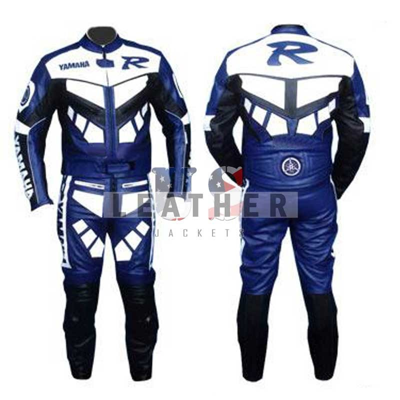 racer leather jackets, yamaha blue leather suit,  motorcycle leather suit,  leather suit,  genuine leather suit,  track leather suit,  bike leather suit,