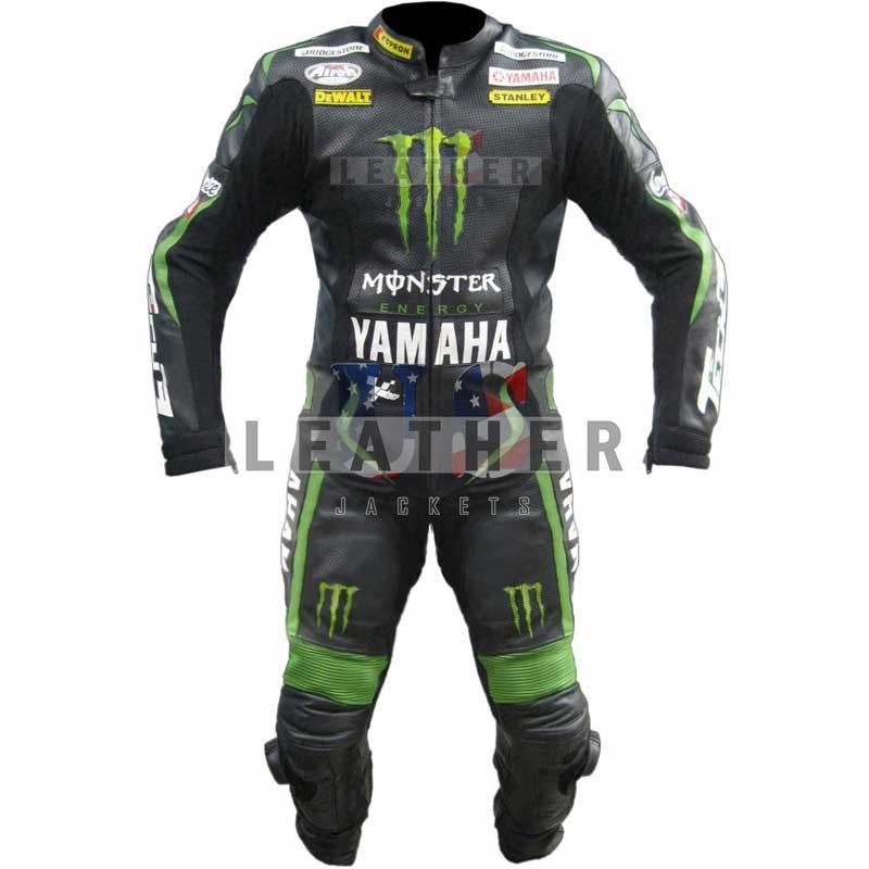 US Leather Suit,  Yamaha Andrea Dovizioso leather suit,  Yamaha Leather suit,  yamaha racing suit,  Monster Energy leather suit,  Motogp racing suit yamaha 2012,  SBK Motogp replica suit