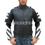 racer leather jackets, Black Striping style  Motorcycle  Leather Jacket, bespoke leather jacket uk, bespoke leather jackets london,