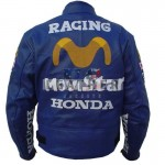 racer leather suits, Movistar Repsol Bike Stylish Leather Jacket,  Movistar Repsol motorcycle jacket