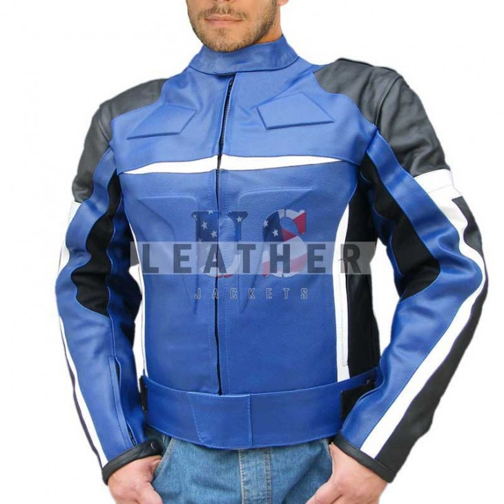 Blue Motorcycle Custom Leather jackets, leather Jacket for men, leather jacket, leather jacket repair, motorcycle leather jacket repair, motorcycle leather jacket for sale, Custom Leather jacket, Racing Leather jacket, Leather Race jacket, Custom Jackets