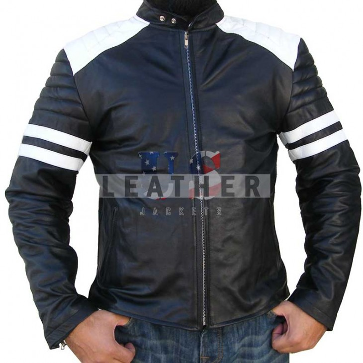 Fight Club film leather jacket,  Brad Pitt movies leather jacket,  movie replica jackets,  replica movie jackets,  film jackets,  movie jackets,  movie leather jackets,  replica movie costumes,  leather jackets movies,  vintage leather clothing