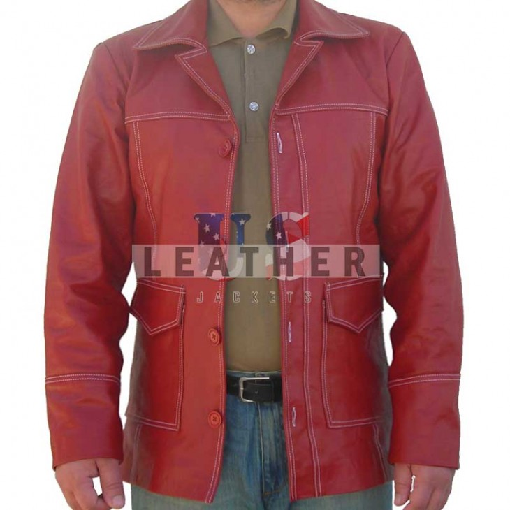 Fight Club replica leather jacket,  Brad Pitt movies leather jacket,  movie replica jackets,  replica movie jackets,  film jackets,  movie jackets,  movie leather jackets,  replica movie costumes,  leather jackets movies,  vintage leather clothing