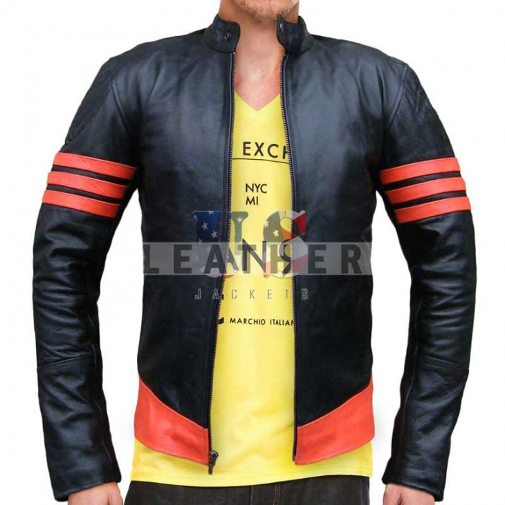 fashion leather jackets,  X-Men  Wolverine Biker Tour Leather Jacket,  replica jacket,  movies jacket, replica movie jackets,  replica movie costumes,  leather jackets movies