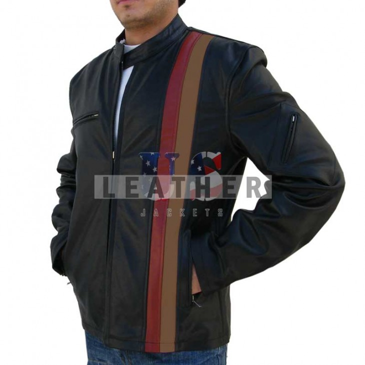 fashion leather jackets,  X-Men: The Last Stand Leather Jacket,  Cyclops leather jacket,  Movies replica leather jacket,  replica jacket,  movies jacket, replica movie jackets,  replica movie costumes,  leather jackets movies
