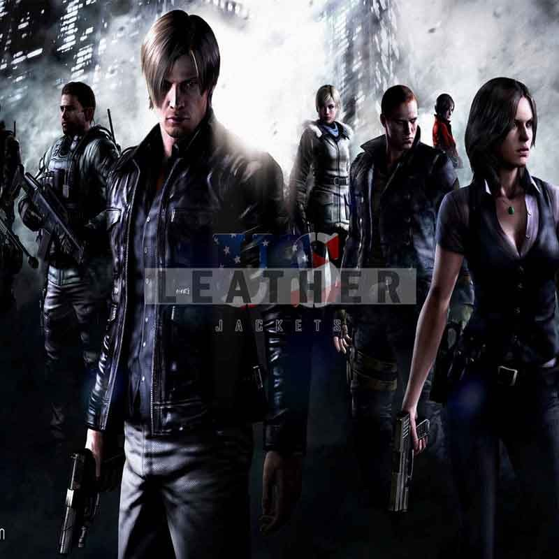 Resident Evil 6 Ladies Leather Jacket Game Leather Jacket