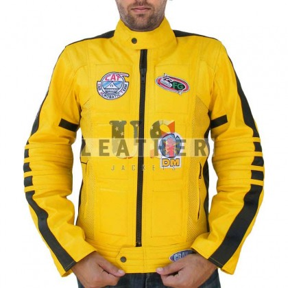 Kill Bill Stylish Movie Men Custom Leather Jacket