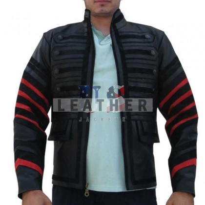 Military Rock Fashion Men Leather Jacket