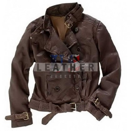 CAPTAIN AMERICA 2  Black Widow Custom Leather Jacket