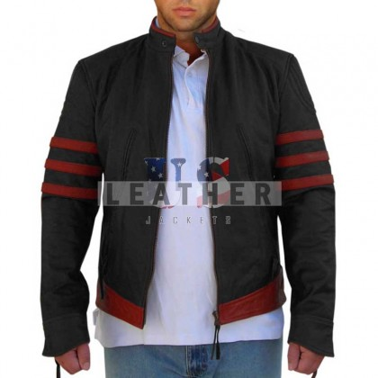 X-Men Origins: Wolverine Red Custom Leather Jacket