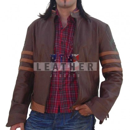 X-Men Origins: Wolverine Movie Brown Leather Jacket