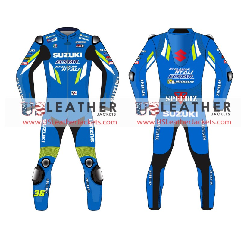 JOAN MIR  MotoGP 2019 suit, Suzuki Ecstar 2019 Motogp Racing suit, motogp racing leather suit, motogp 2019 race suit