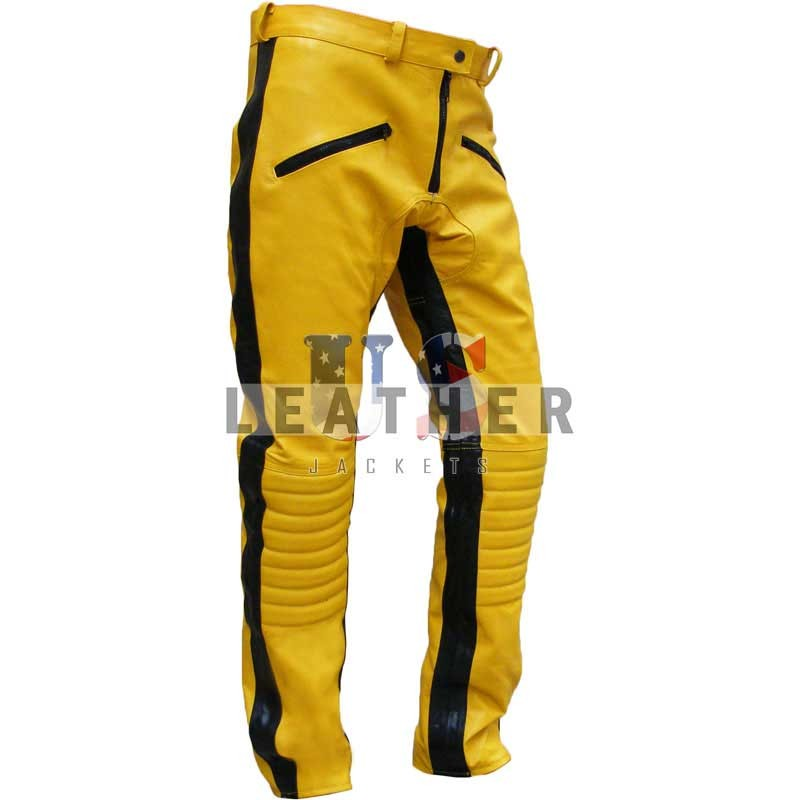 fashion leather jackets, Kill Bill Stylish Movie Men Leather Trouser,  Kill Bill movie trouser, replica jacket, movies jacket, replica movie jackets, replica movie costumes, leather jackets movies