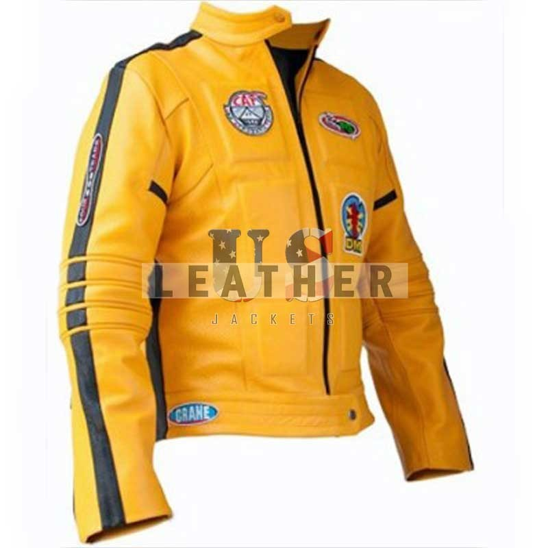 fashion leather jackets, Kill Bill volume 1 replica leather jacket,  movies leather jacket,  replica movies jacket,  replica leather jackets