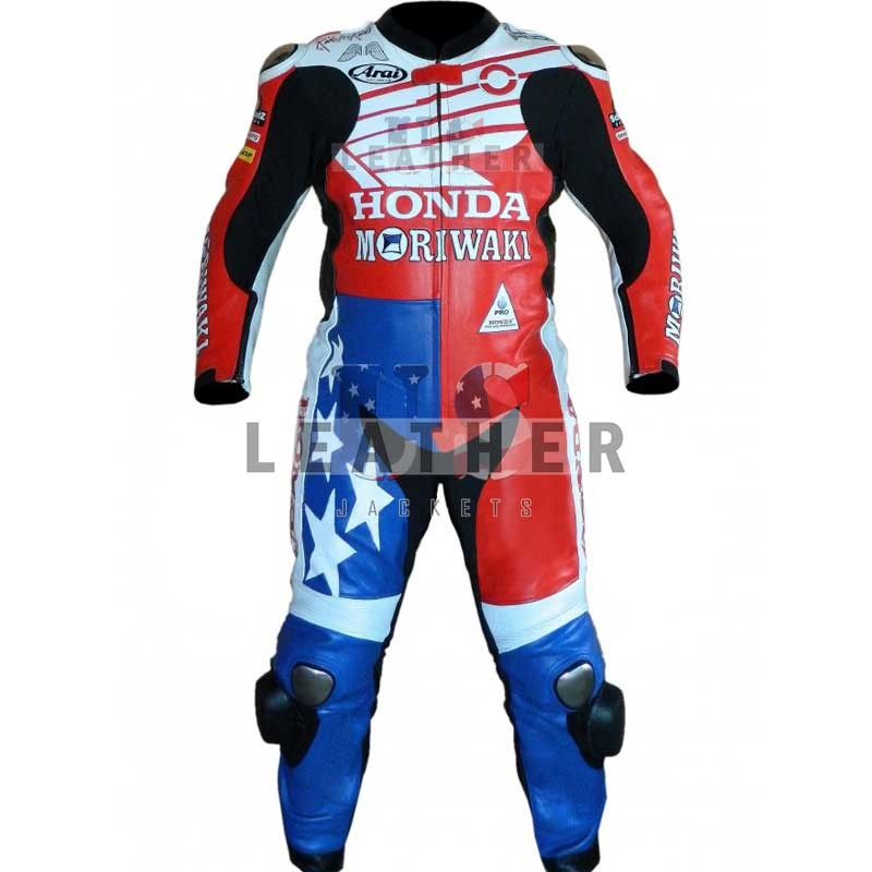 racer leather jackets, Moriwaki leather suit, Roger Lee Hayden suit,  Roger Lee Hayden racing suit,  Roger Lee Hayden honda leather suit,  Motogp racing suit 2012,  SBK Motogp replica suit