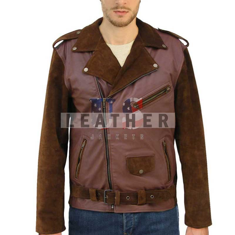 fashion leather jackets,  Billy Connelly's Route 66  Fashion Leather Jacket,  fashion jackets,  tv series jacket,  men stylish leather jackets, replica jacket,  movies jacket, replica movie jackets,  replica movie costumes,  leather jackets movies