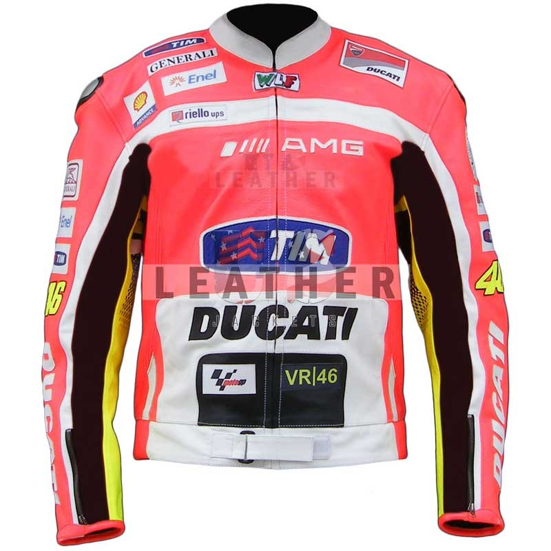 Valentino Rossi Ducati 2012 Motorcycle Jacket, Racing Custom Leather jacket, Valentino Rossi 2012, Valentino Rossi Ducati Corse Leathers jacket, Ducati Corse Leathers jacket, Genuine leather jacket